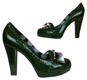 Betsey Johnson Patent Leather Green Platforms