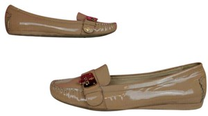 Cole Haan Patent Leather Nude Loafers Tan, Nude Flats