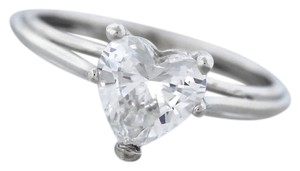 Other Ladies Modern Platinum 1.24ct Heart Brilliant Diamond Engagement Ring