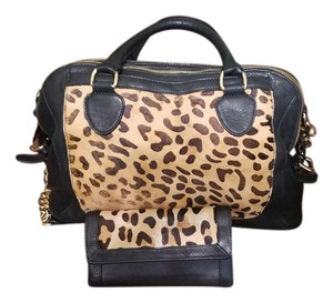 Audrey Brooke Satchel in Black Leopard