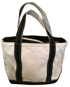 Lands' End Tote in Natural and Black