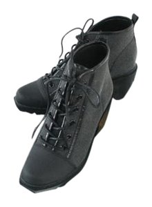 Opening Ceremony Black Grunge Sneaker Lace-up Boots