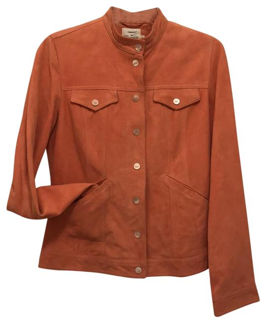 Preload https://img-static.tradesy.com/item/20567421/faconnable-orange-soft-suede-wmother-of-pearl-snaps-covers-leather-jacket-size-4-s-0-1-650-650.jpg