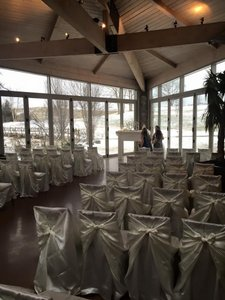 75 Satin Ivory Universal Chair Covers