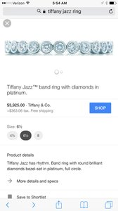 Tiffany & Co. Authentic Tiffany Diamond Jazz Wedding Band