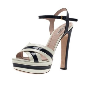 Miu Miu white/black Platforms