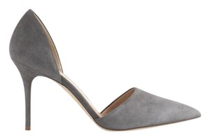 J.Crew Suede Leather Geniune Heron Gray Pumps
