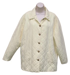ORVIS Plus-size Quilted Barn Spring Yellow Jacket