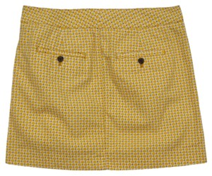 J.Crew Skirt yellow, white, maroon