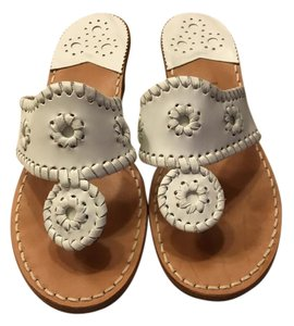 Jack Rogers Preppy Classic Summer White Sandals