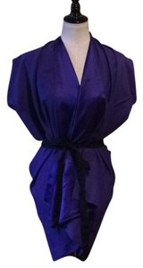 Zero + Maria Cornejo short dress Amethyst - purple Wrap Short Electric Blue Silk on Tradesy