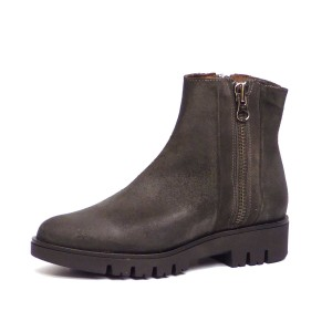 Eric Michael Ankle Grey Suede Zip Charcoal Grey Boots