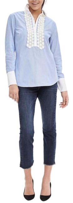 Preload https://item2.tradesy.com/images/banana-republic-light-blue-and-white-striped-lace-trim-shirt-button-down-top-size-2-xs-20567741-0-1.jpg?width=400&height=650