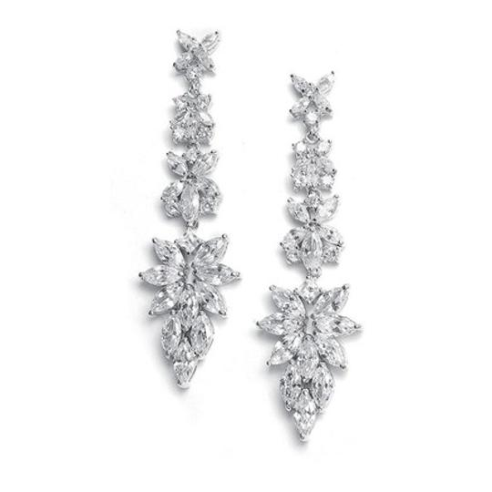 Preload https://item1.tradesy.com/images/mariell-silver-with-cubic-zirconia-marquis-cluster-2021e-earrings-20567770-0-0.jpg?width=440&height=440