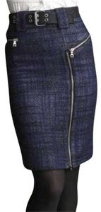 Marc by Marc Jacobs Tweed Pencil Skirt Blue Black