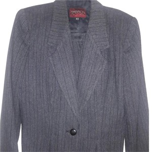 Sasson Jeans Vintage Womens Suit Grey Pinstrip