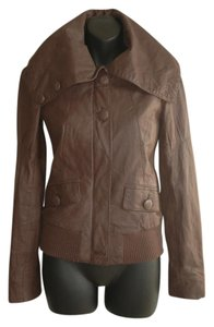 blendshe brown Leather Jacket