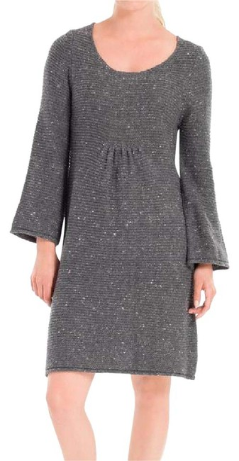 Preload https://img-static.tradesy.com/item/20567811/max-studio-gray-wool-blend-sweater-short-casual-dress-size-12-l-0-1-650-650.jpg