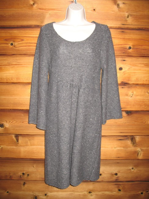 Max Studio short dress Gray Empire Waist Sweater Wool Blend Soft Short on Tradesy