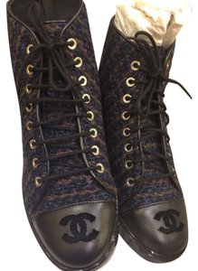 Chanel dark blue Boots