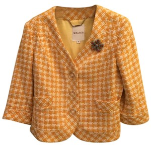 Walter by Walter Baker yellow and cream tweed Blazer