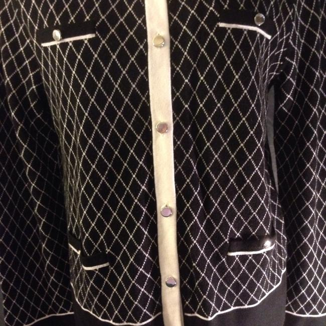 Jones New York Button Down Shirt Black/White