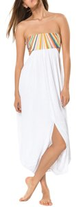 White Maxi Dress by Mara Hoffman Maxi Cut-out Coverup