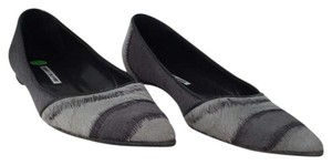 Manolo Blahnik Pony Hair Grey Flats