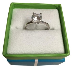 2 Carat Silver Cz Engagement Ring