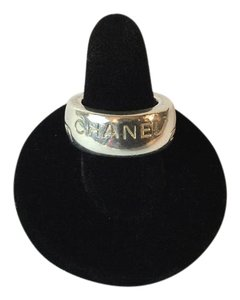 Chanel Chanel 925* Cambone Wide Band Imprinted Wide Ring
