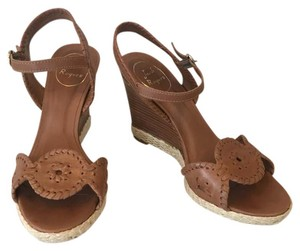 Jack Rogers Brown Wedges