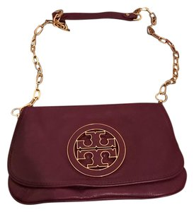 Tory Burch plum Clutch