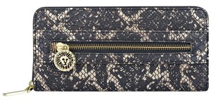 Anne Klein Anne Klein New Recruits Zip Around Black/Gold Golden Logo Wallet
