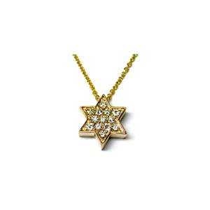 Other JewelryNest 14k Yellow Gold Diamond Star of David necklace Pendent