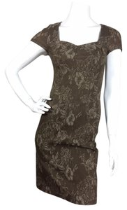 Peruvian Connection short dress Brown Beige Floral on Tradesy