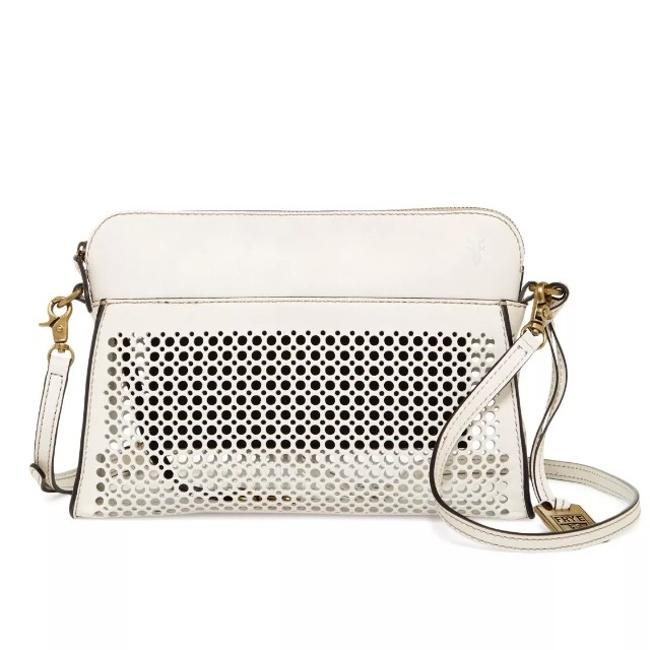 Item - Peyton Perforated Off White Leather Cross Body Bag