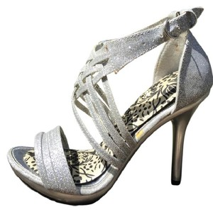 Marichi Mani Gorgeous Silver Platinum Heel Wedding Shoes