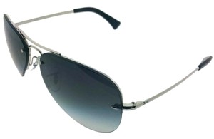 Ray-Ban RB3449-003-8G Highstreet Men's Silver frame Grey Lens Sunglasses