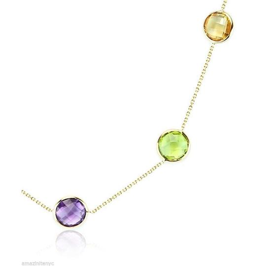 JeewelryNest JewelryNest 14k Gemstone Stationary By The Yard 36 Inches Necklace