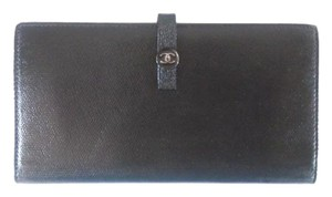 Chanel Black Long Bifold Wallet