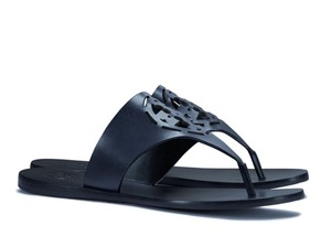 Tory Burch Leather Blue Zoey Navy Sandals