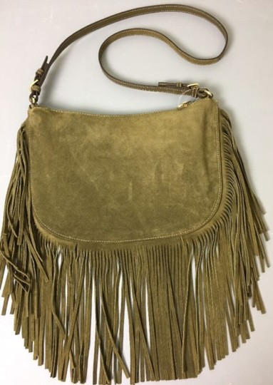 Michael Kors Suede Fringe Cross Body Bag