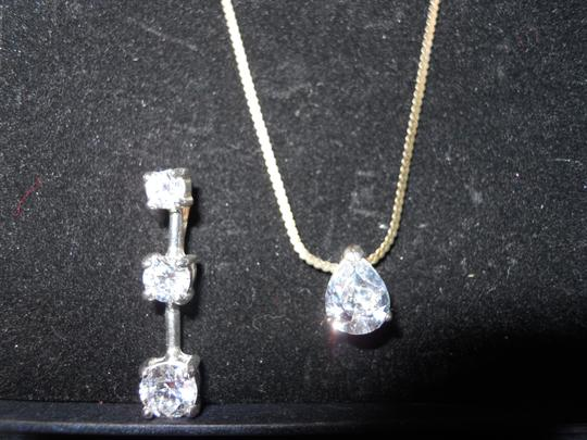Other Sterling silver cz pendants and earrings set