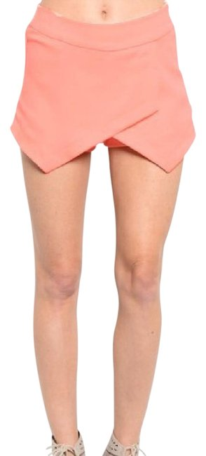 Preload https://img-static.tradesy.com/item/20568392/peach-women-coral-wrap-irregular-mini-skirt-zipper-skort-size-8-m-29-30-0-1-650-650.jpg