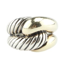 David Yurman David Yurman Sterling Silver & 18K Knotted Cable Ring, Size 6 (110091)