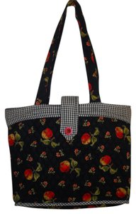 April Cornell Tote Cotton Quilted Apples Laptop Bag