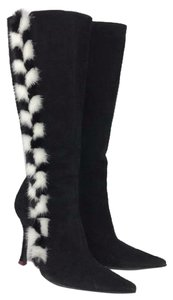 Escada black & white Boots