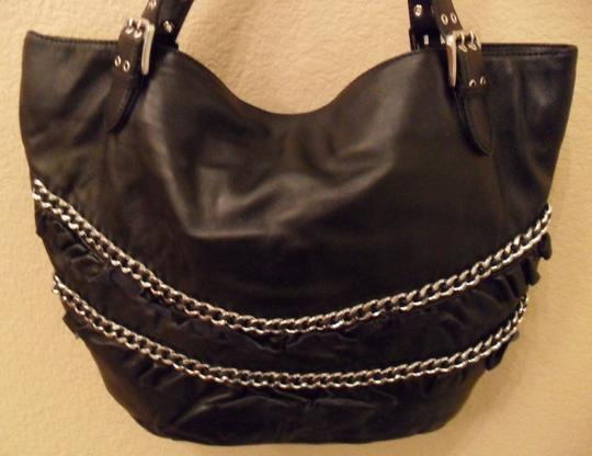 Betsey Johnson Leather Chain Event Tote in Black