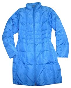 Lands' End Goose Down Reversible Quilted Coat