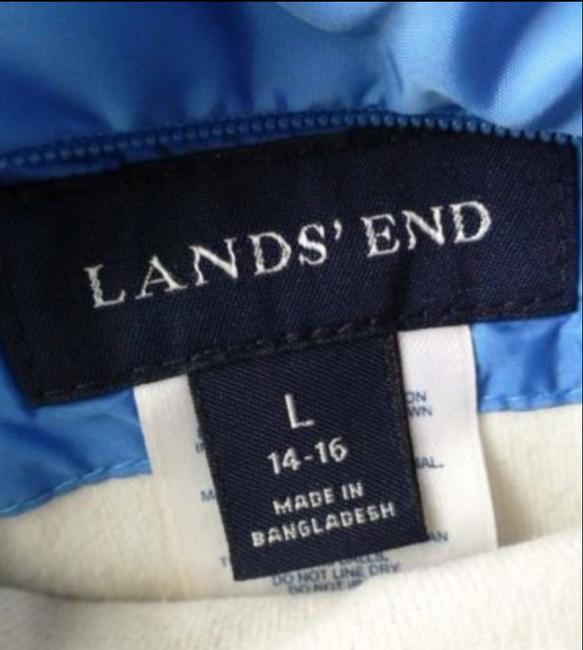 Lands' End Puffer Goose Down Reversible Quilted Coat